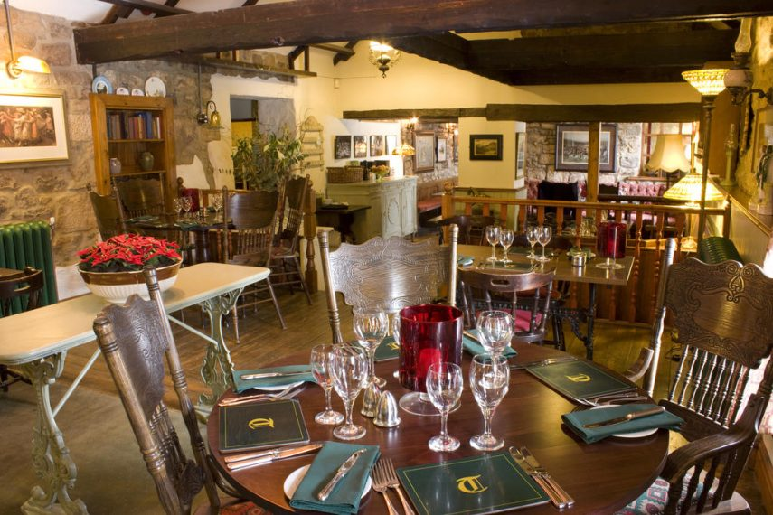 Dining at The Tankerville Arms