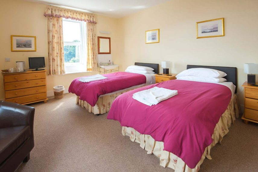Twin bedroom at Aerial Alnmouth Golf Club