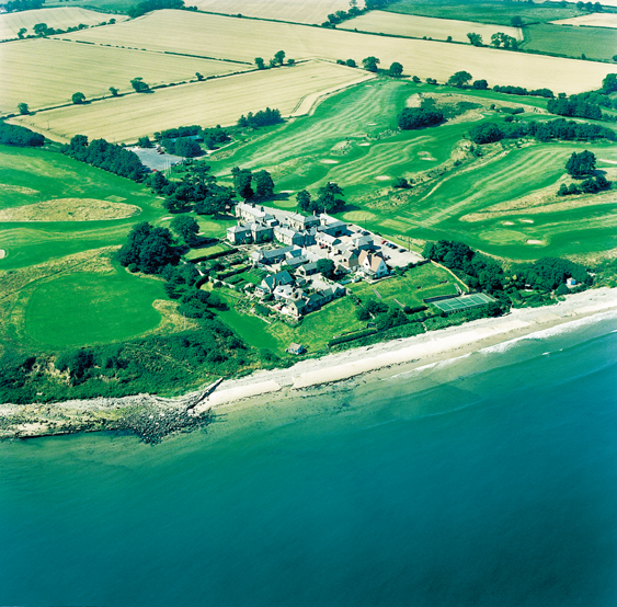 Aerial view of Alnmouth Golf Club