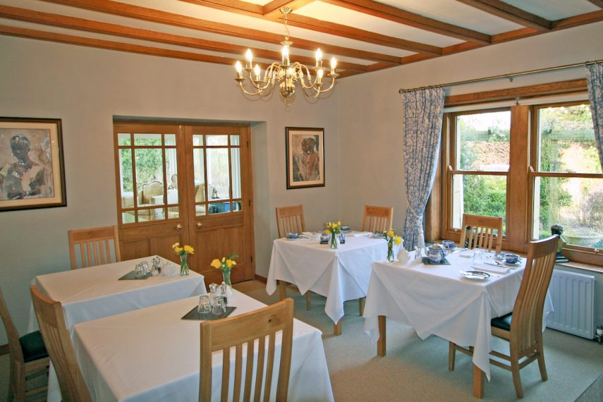 Dining at West Acre House