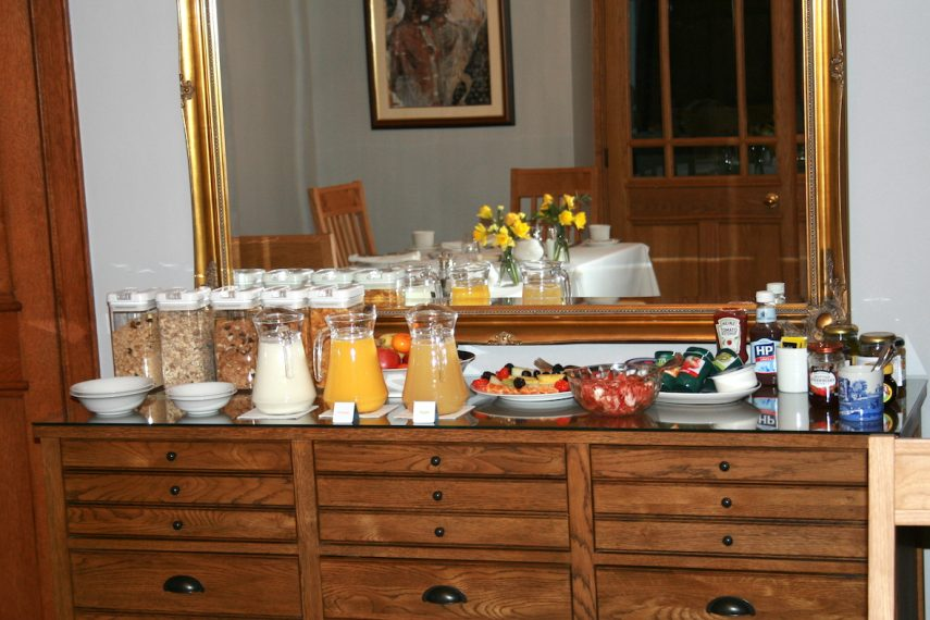Buffet at West Acre House