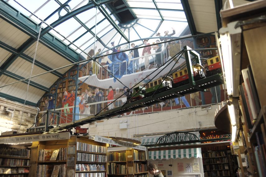 Barter Books - Mural & Trains