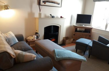 Lounge at Hedgehope Cottage