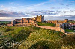 Bamburgh Castle via drone (© Calum Gladstone)